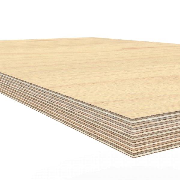 Werkbankplatte 1500 x 800 x 40 mm Multiplex Platte massiv geschliffen + geölt